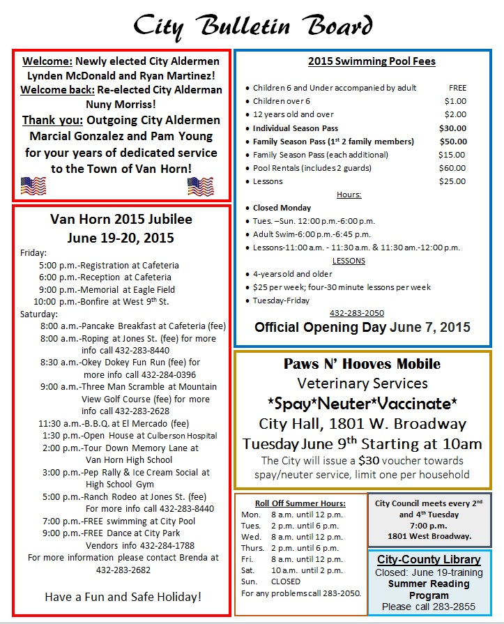 June 2015 Customer Newsletter